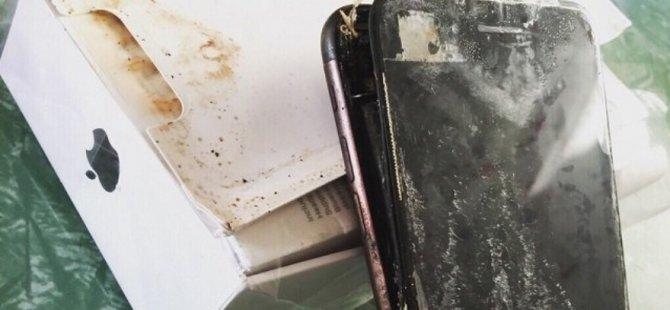 Şimdi de iPhone 7 patladı!