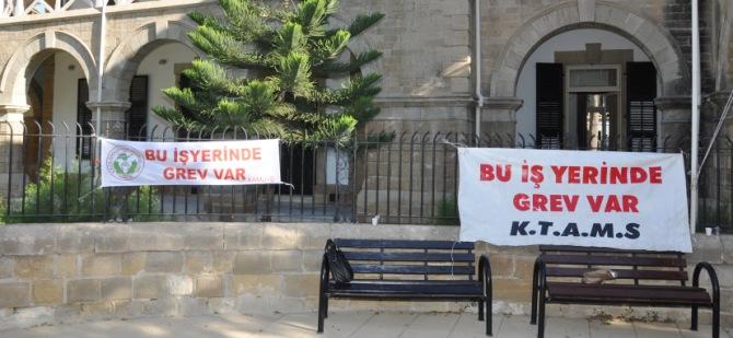 Lefkoşa ve Girne Kaza Mahkemelerinde grev