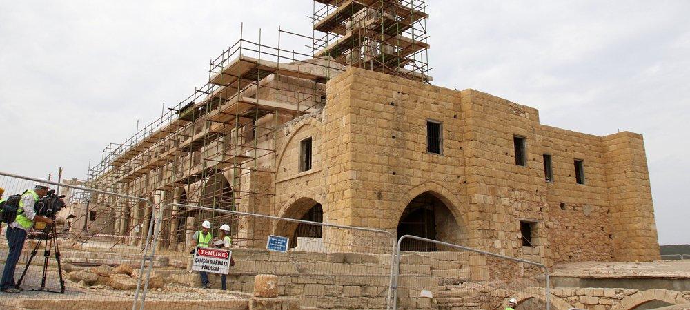 Apostolos Andreas Manastırı'nın restorasyonunun devamı geliyor