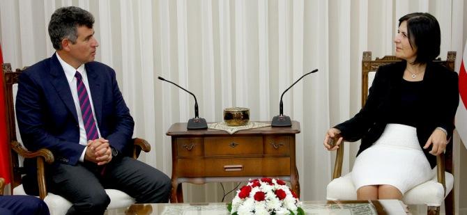 Siber, Türkiye Barolar Birliği Başkanı Feyzioğlu'nu kabul etti.