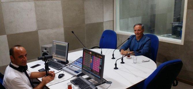 Azerbaycan Milletvekili Amasov, Radyo Güven'i ziyaret etti