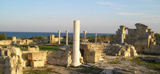 """Salamis Harabeleri'nde bulunan """"Kampanopetro Bazilikası""""nda  Vandallık iddiası"""