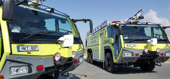 Baf Havaalanı'na iki yeni yangın söndürme aracı