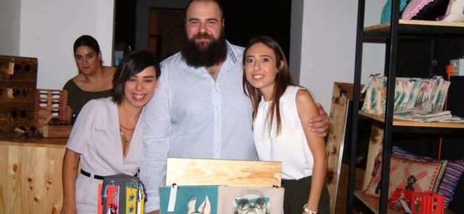 Birbirinden yetenekli Kıbrıslı üç genç tasarımcıdan doğan Hall Craft Shop'a ilgi büyük