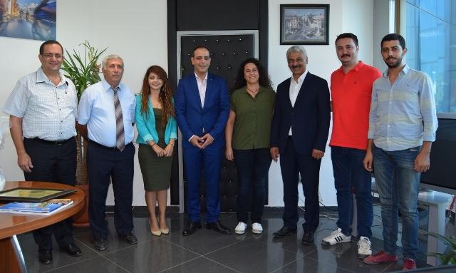 Harmancı, Kemerhisar Belediye Başkanı Kirazcı'yı kabul etti