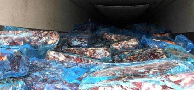 Güney Kıbrıs'tan 600 Kilo et geçirirken yakalandı!