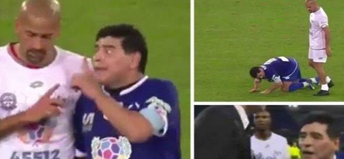 Maradona barış maçında olay çıkardı!