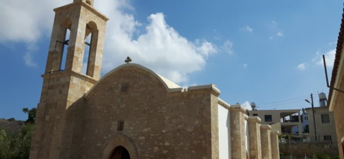 """Koruçam'da bulunan """"Agios Georgios Maronit Kilisesi yenileniyor"""
