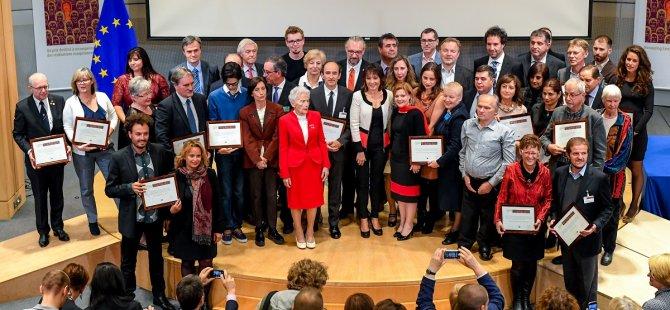 Avrupa Vatandaşlık Ödülü'nü kazananlar için AP'de tören düzenlendi