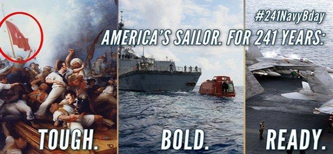 ABD donanmasından 'Türk Bayraklı' paylaşım
