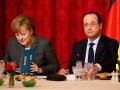 Hollande ve Merkel'den Ukrayna'ya yaptırım talebi