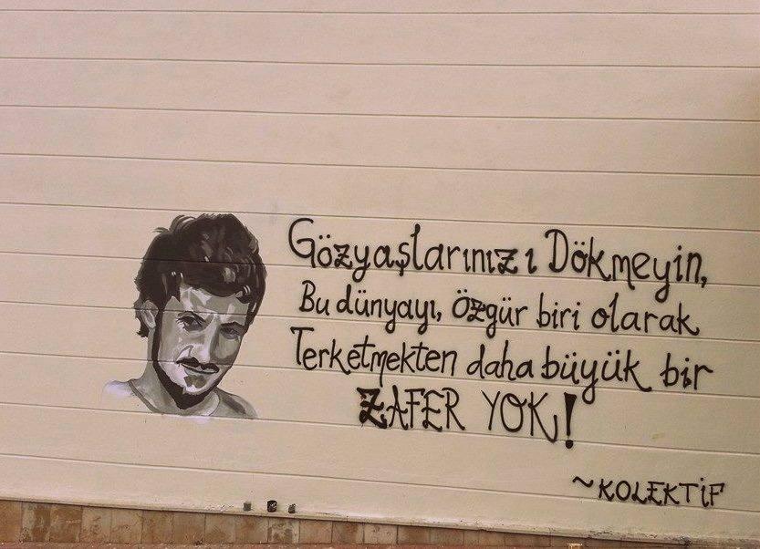 Ali İsmail Korkmaz'ın portresini yeniden yaptılar