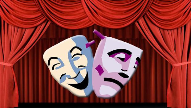 Lefkoşa Belediye Tiyatrosu siyasileri protesto ediyor