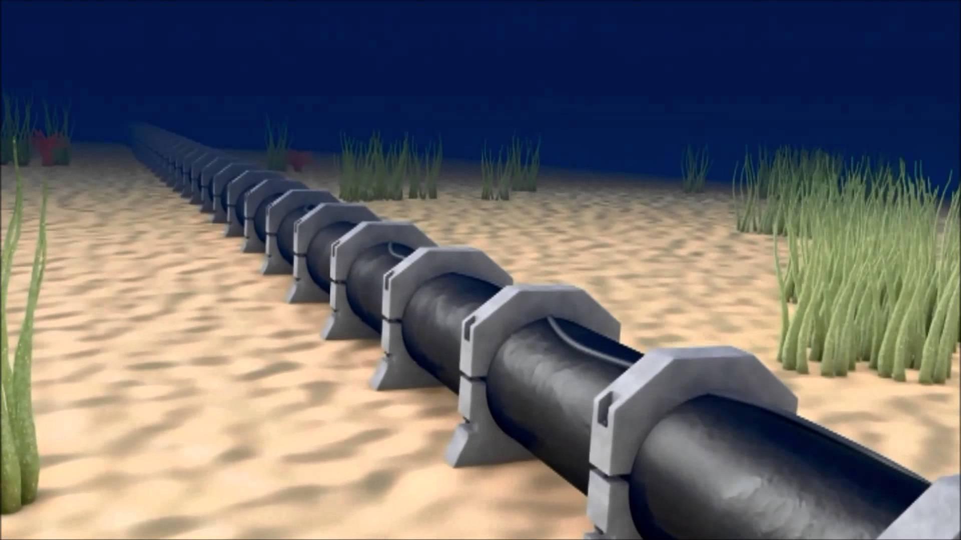 KKTC'ye su getirecek boruların ilk bloğu deniz tabanına yerleştirildi
