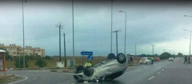 Turunçlu kavşağında kaza