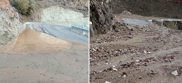 Yeni yapılan yol 15 günde yıkıldı
