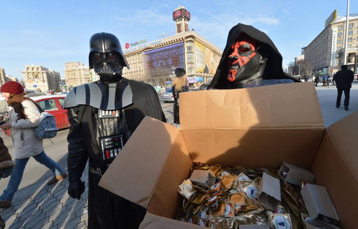 Darth Vader Ukrayna Cumhurbaşkanlığı seçimlerinde aday!