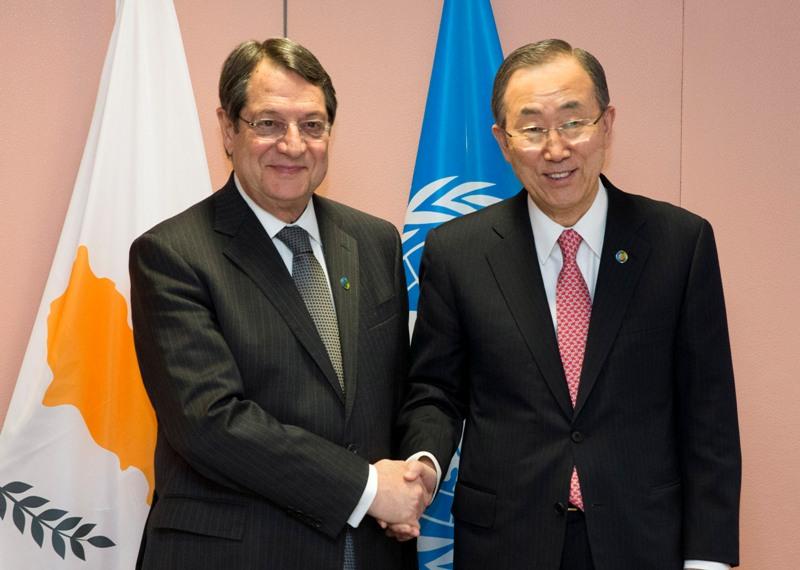 Anastasiades BM Genel Sekreteriyle görüştü
