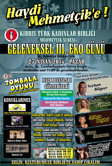 Mehmetçik'teki Eko Gün'ün üçüncüsü, 27 Nisan Pazar günü yapılıyor