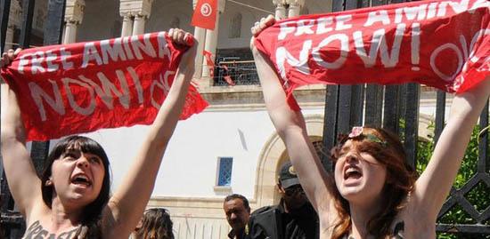 Çıplak protestoculara tahliye