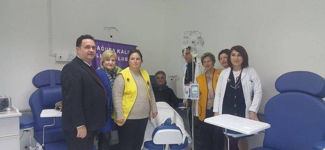 KHYD ile GKLK Lefkoşa Dr. Burhan Nalbantoğlu Devlet Hastanesi Onkoloji Servisi'ne cihaz bağışladı
