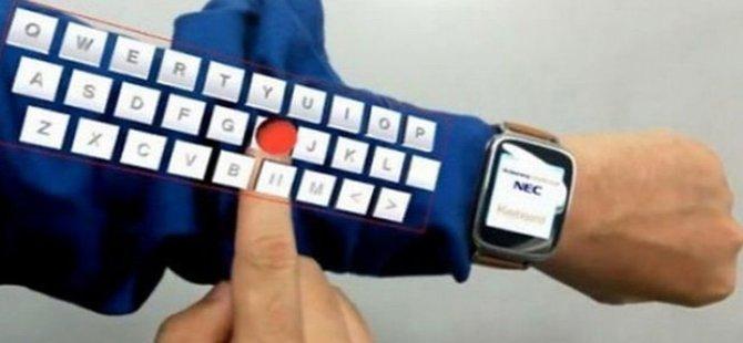 Kola sanal klavye geliyor