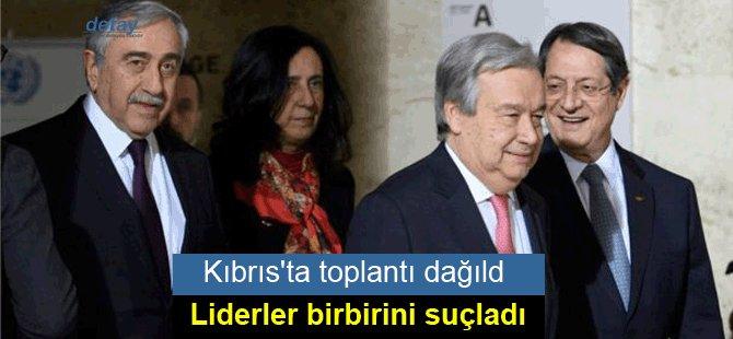 Kıbrıs'ta toplantı dağıldı, liderler birbirini suçladı