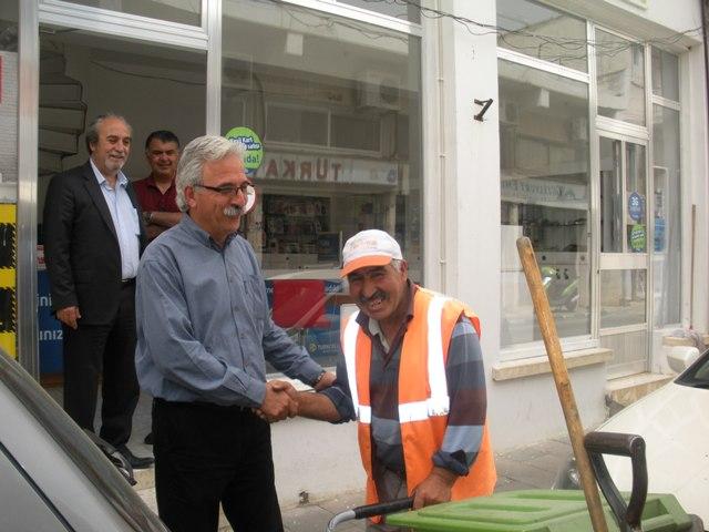 Osman Bican esnafı ziyaret etti