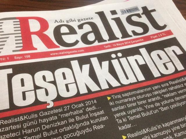 Realist gazetesi yayınına son verdi