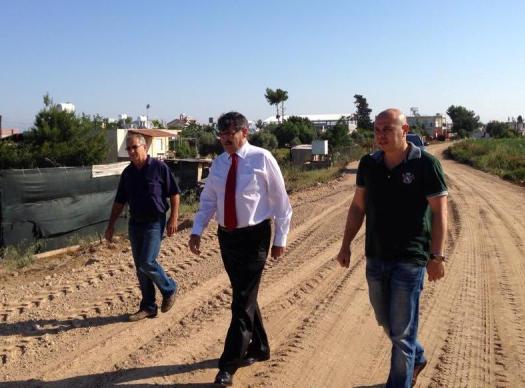 Mağusa Belediyesi'ne asfalt desteği