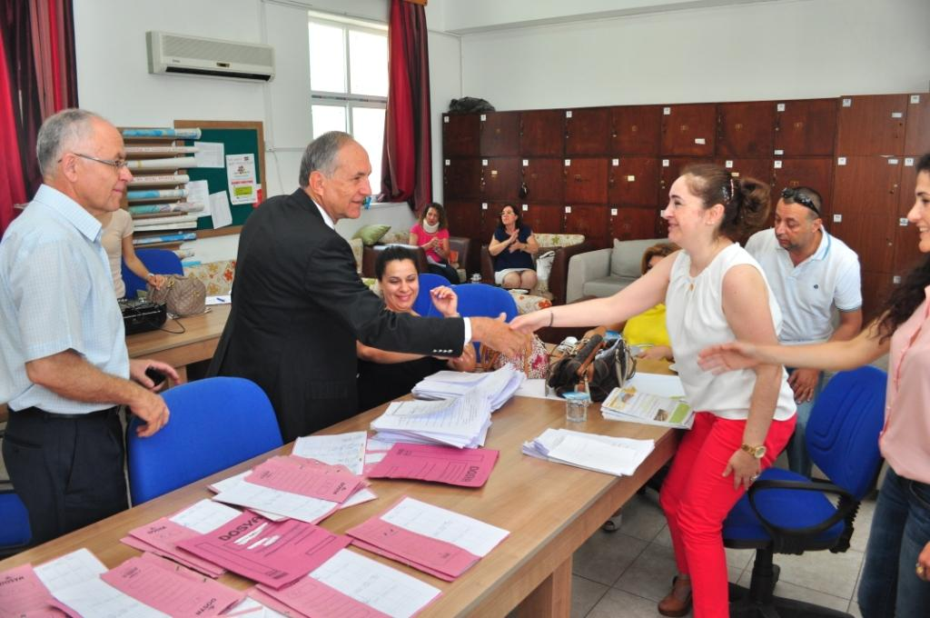 Aygın Anafartalar Lisesi'ni ziyaret etti