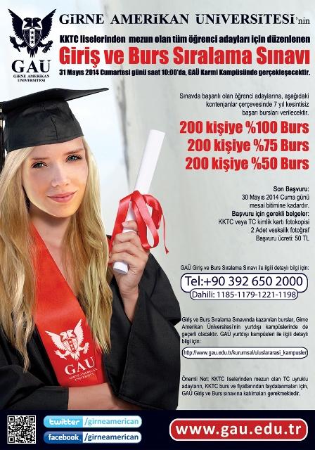 GAÜ giriş ve burs sınavı 31 Mayıs'da gerçekleşiyor