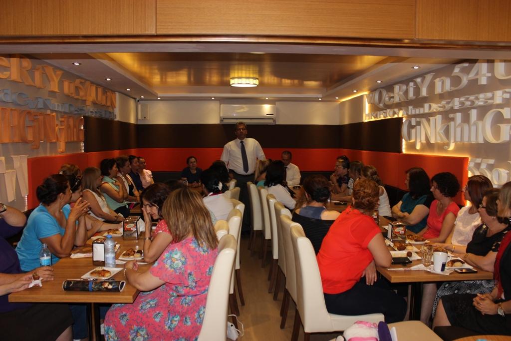 Arter DP Ulusal Güçler Gazimağusa İlçesi kadın örgütü'nün toplantısına katıldı