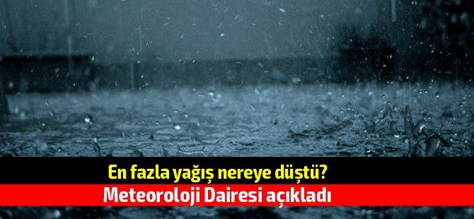 Son 24 saatte en fazla yağış nereye düştü?