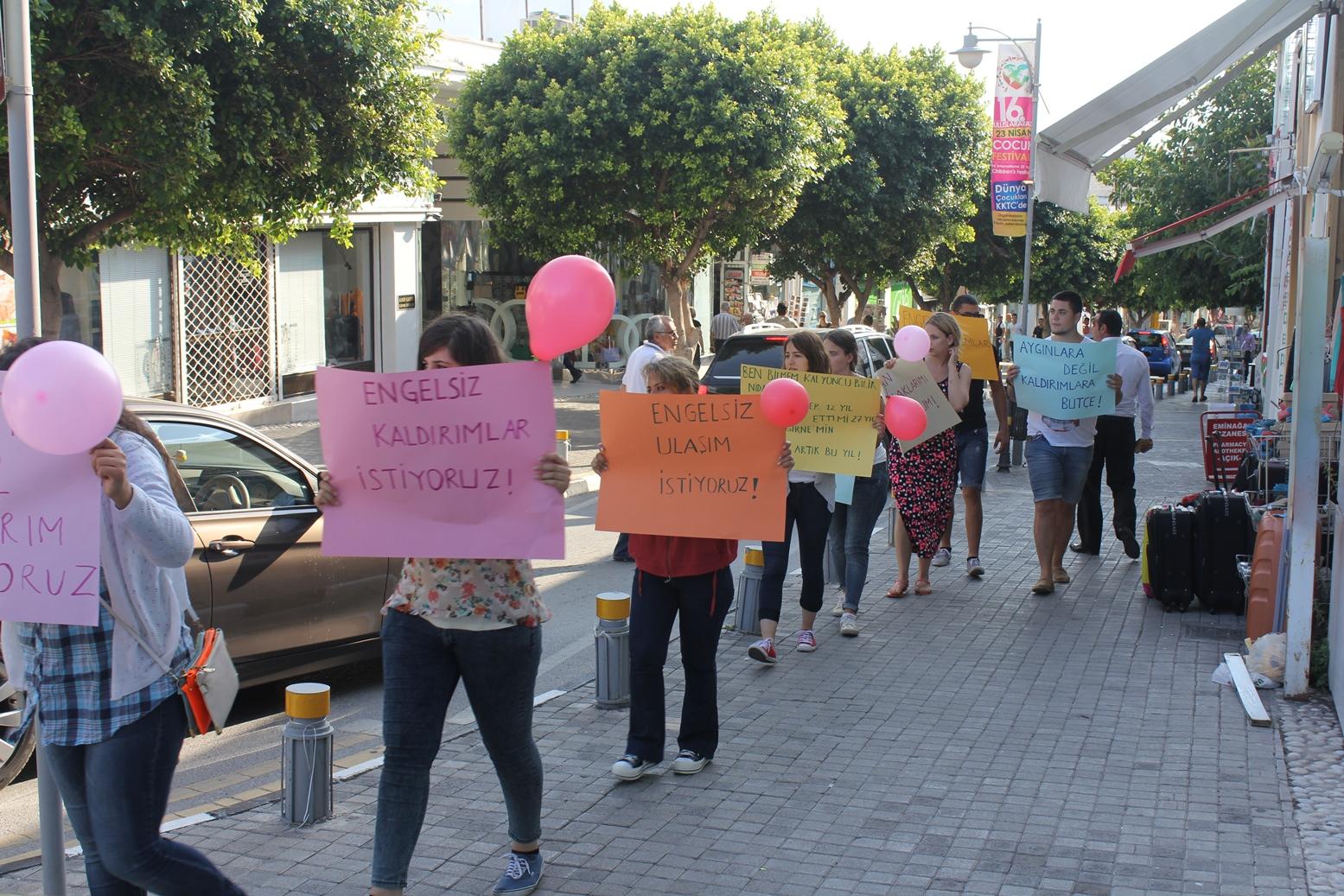 DP-UG Girne adaylarından eylem