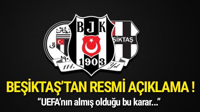 UEFA'dan Beşiktaş ve Lyon'a men cezası !