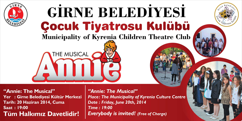 Girne Belediyesi Çocuk Tiyatrosu'ndan yeni bir oyun:Annie: The Musical