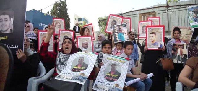 İsrail hapishanelerinde açlık grevi yapan Filistinli tutuklular