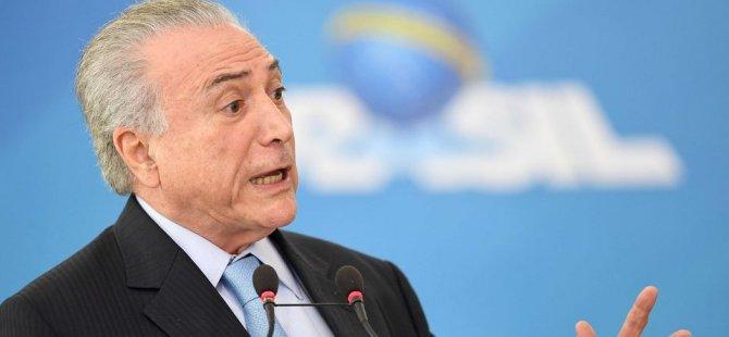 Brezilya Devlet Başkanı Temer hakkında soruşturma izni