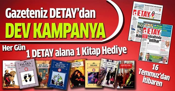 Detay Gazetesi'nden Dev Kitap Kampanyası