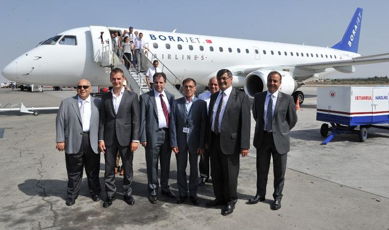 Borajet KKTC'ye ilk uçuşunu yaptı