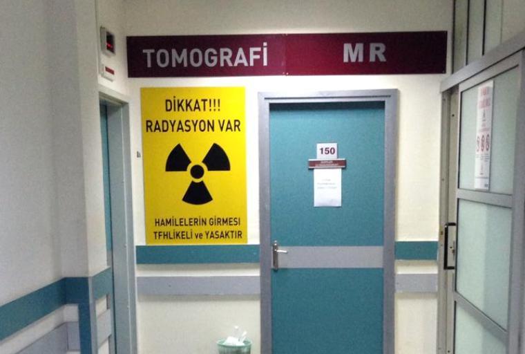 Odacılar röntgen çekiyor
