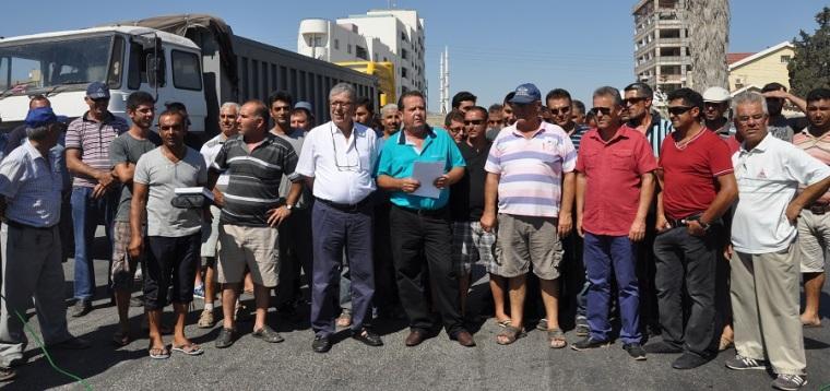 Ağır vasıtalara trafik kısıtlamasını protesto ettiler