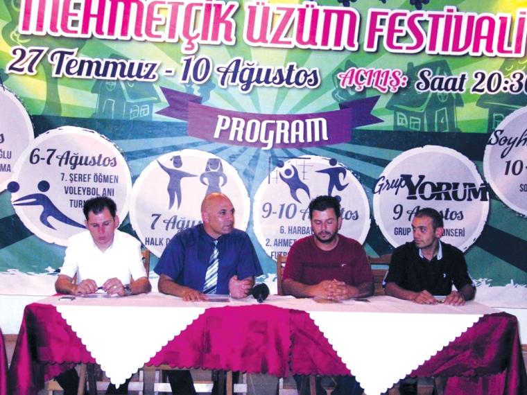"""""""54. Geleneksel Mehmetçik Üzüm Festivali"""" Pazar günü başlıyor"""