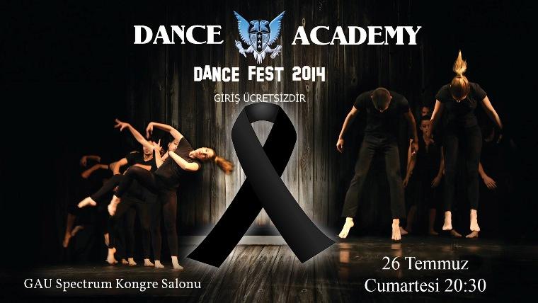 """GAÜ """"Dans Fest 2014"""" yas nedeniyle yarına ertelendi"""