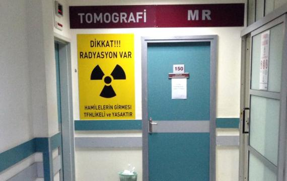 Tomografi ve röntgen çalışanları eylem yaptı