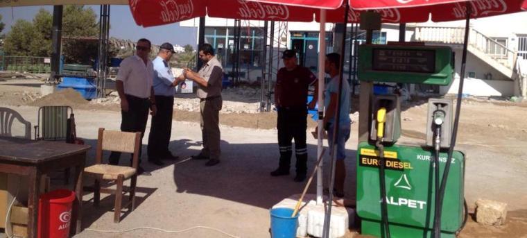 Alpet'in benzin istasyonu mühürlendi