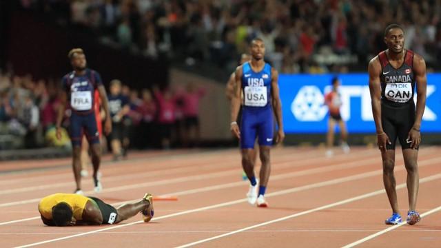 4x100 Türkiye Bayrak Takımı, dünya yedincisi oldu. Bolt dramatik bir şekilde veda etti!i
