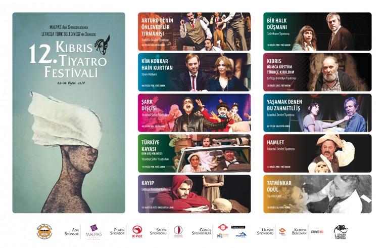 12. Kıbrıs Tiyatro Festivali 2 Eylül'de başlıyor