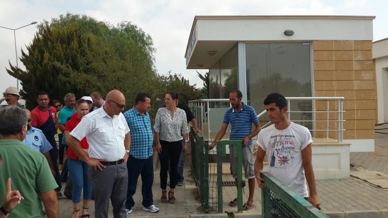 Bafra Su Arıtma Tesisi mühürlendi
